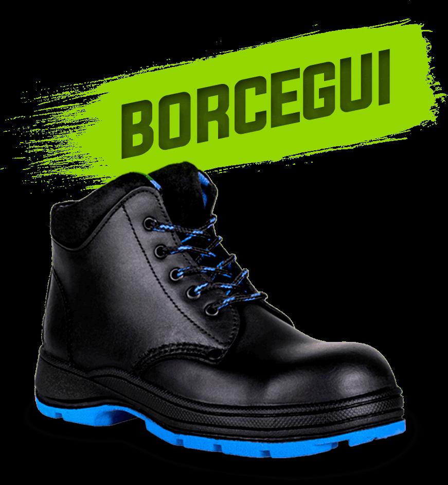 Borcegui color azul botas para moto