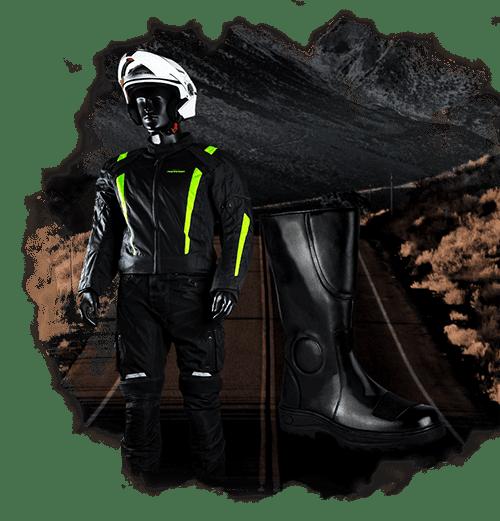 Casos botas chaquetas motociclistas